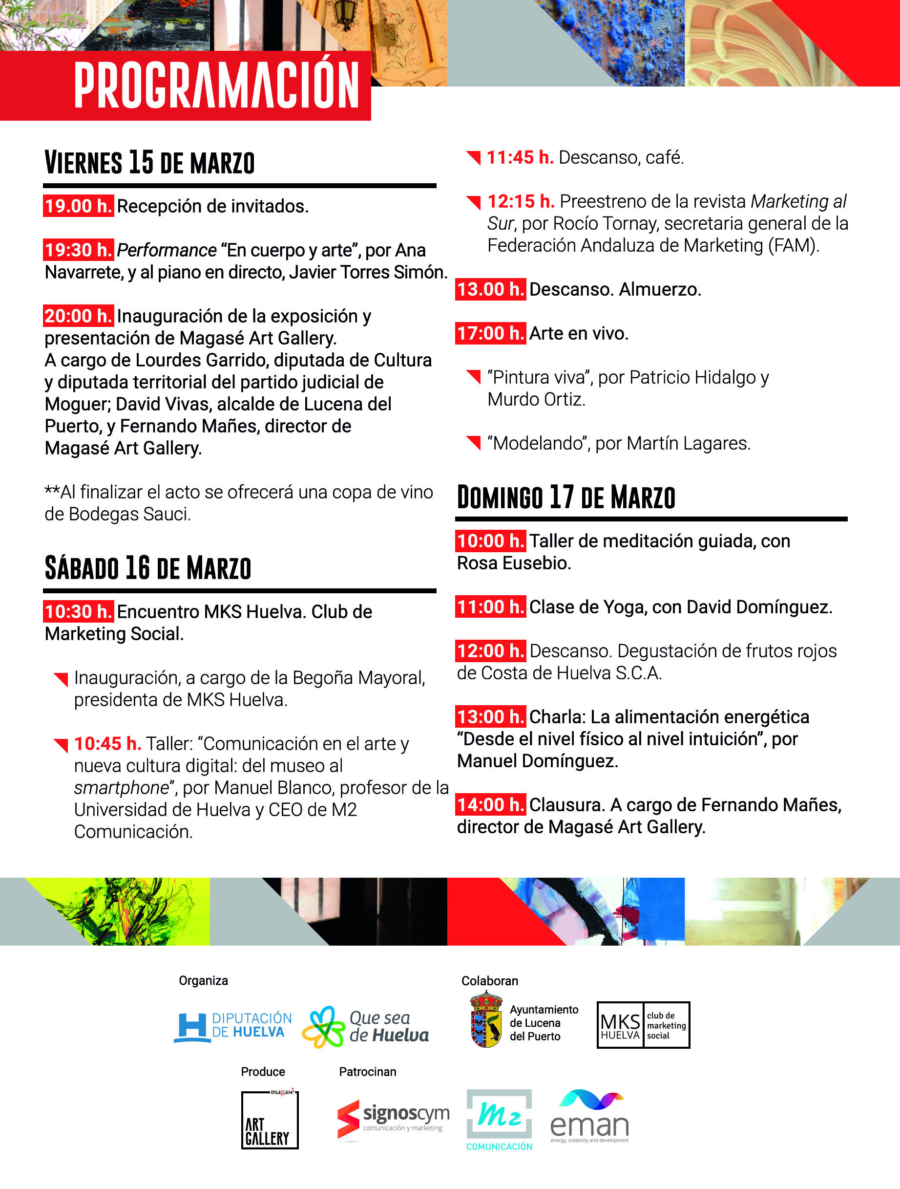 MKS Huelva organiza un taller de comunicación en el evento de arte 'Ars in luce'
